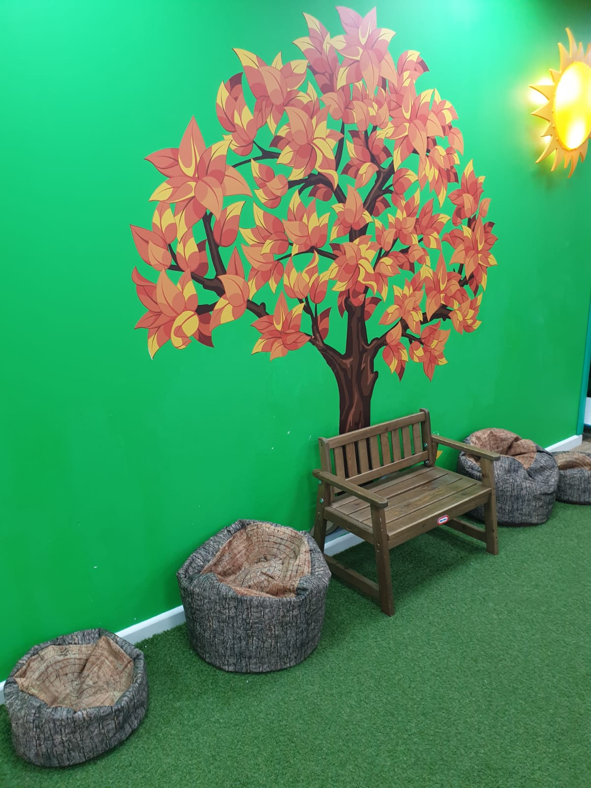 Chill out area for tired children