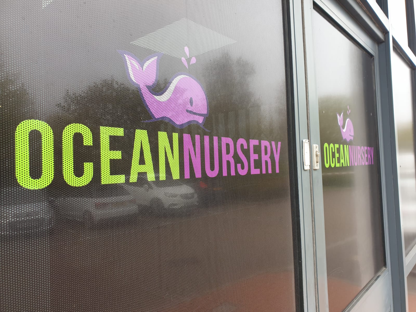 Nursery logo on the front door in Ocean Way